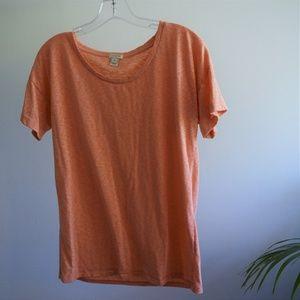 J.Crew orange sketched cotton drop-shoulder tee